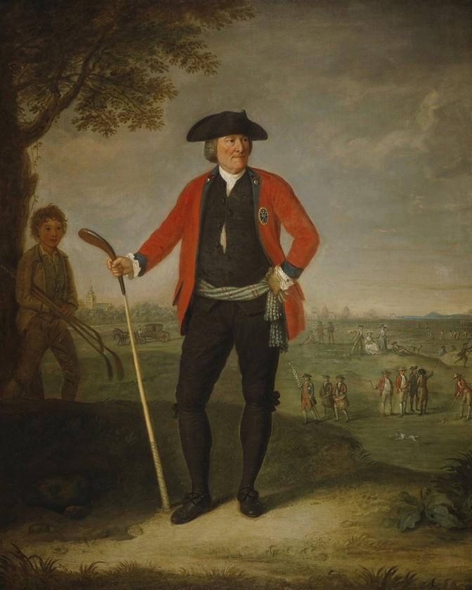Foto 1 - Retrato William Inglis Cirurgião e Capitão da Honorável Companhia de Golfe de Edimburgo Pintura de David Allan em TELA