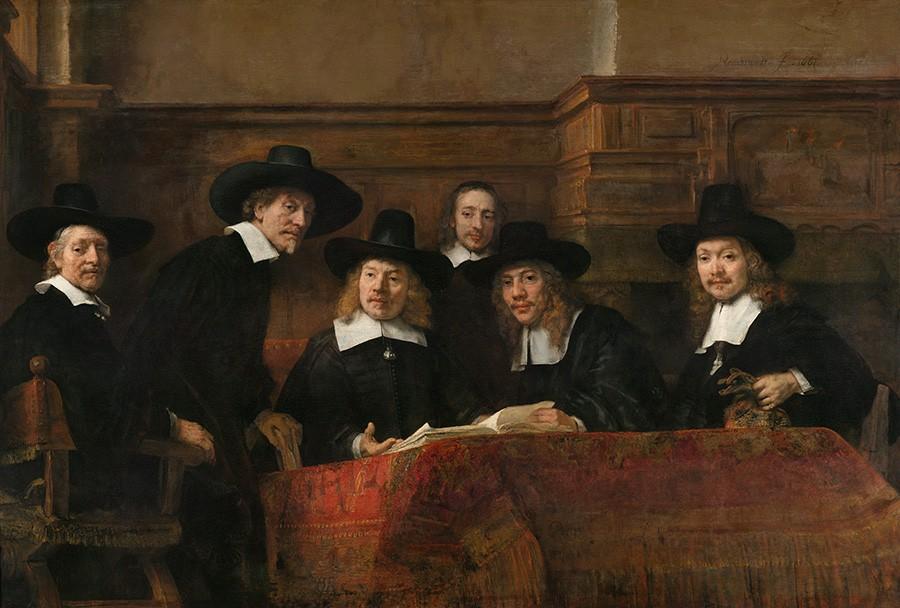Foto 1 - RetratoFuncionários Associação ComerciantesPintura de Rembrandt em TELA
