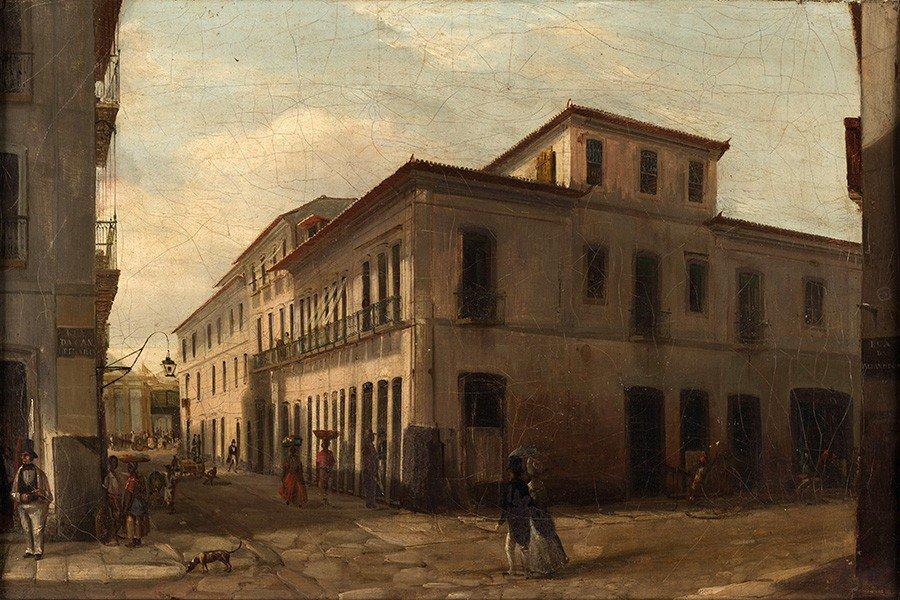 Foto 1 - Rua Candelaria em Rio de Janeiro Pintura de Victor Meirelles em TELA