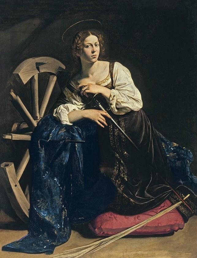 Foto 1 - Santa Catarina de Alexandria Pintura de Caravaggio em TELA