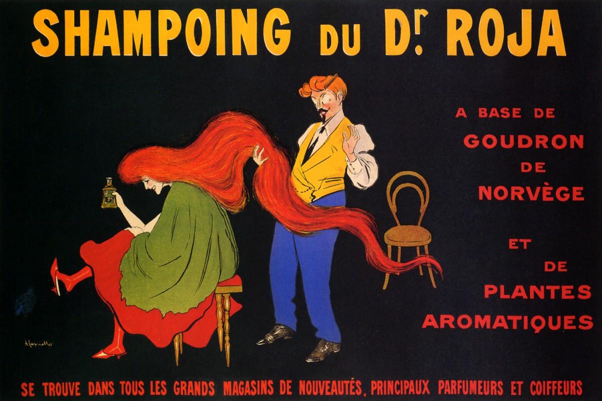 Foto 1 - Shampoo Cabelo Ruivo de CappielloFrança Vintage Cartaz Poster em Papel Matte