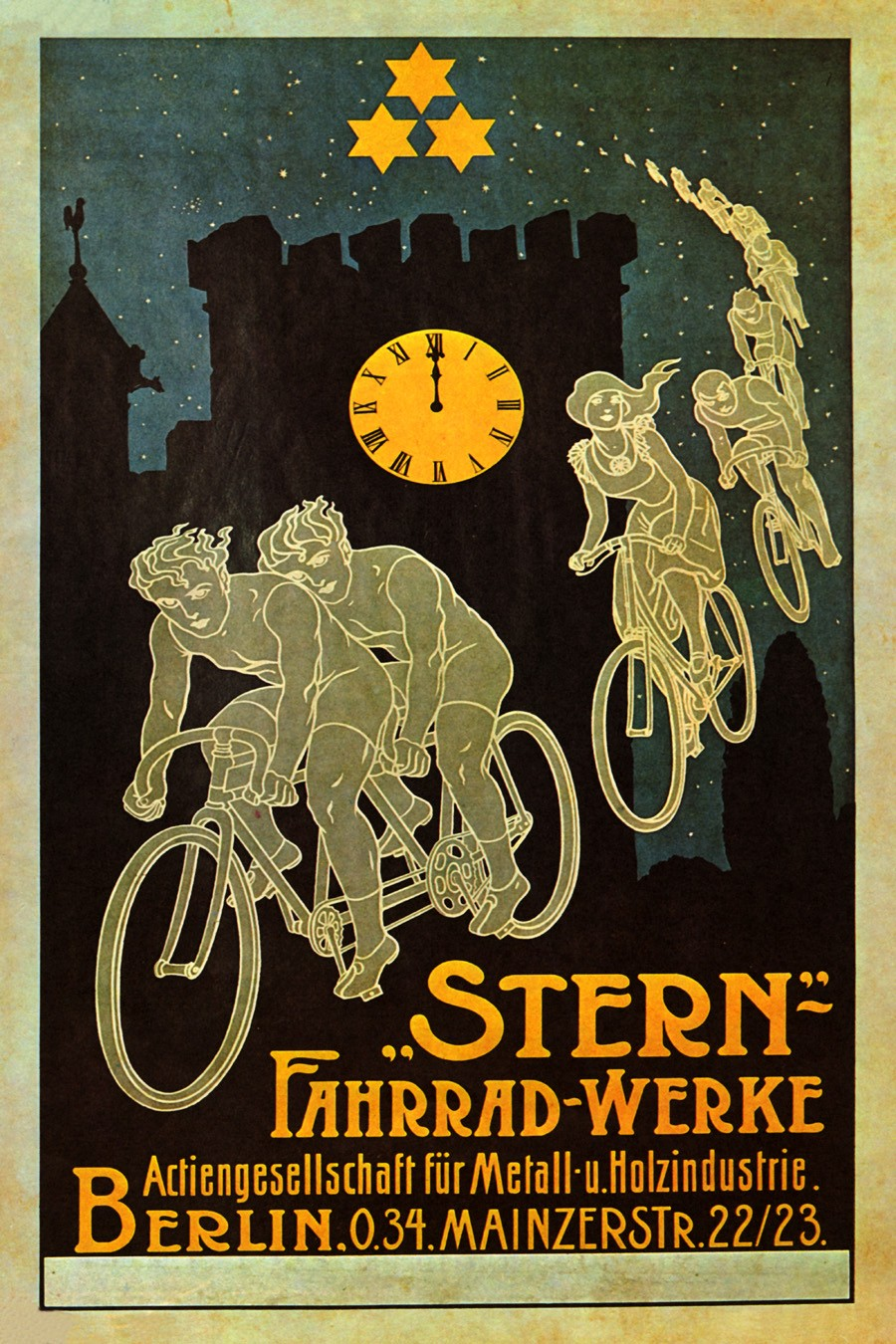 Foto 1 - SternBicicleta Voando Berlin Alemanha Vintage Cartaz Poster em Papel Matte