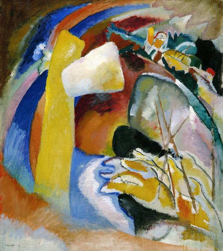 Foto 1 - Study for Painting with White FormPintura de Wassily Kandinskyem TELA