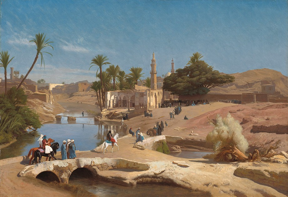 Foto 1 - Vista de Medinet El-Fayoum Cidade ArabePintura de Gerome em TELA