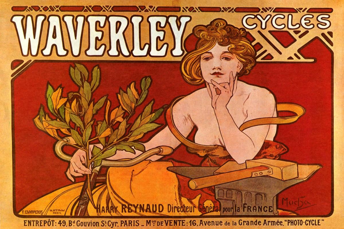Foto 1 - Waverley Cycle Paris BicicletaVintage Cartaz Poster em Papel Matte
