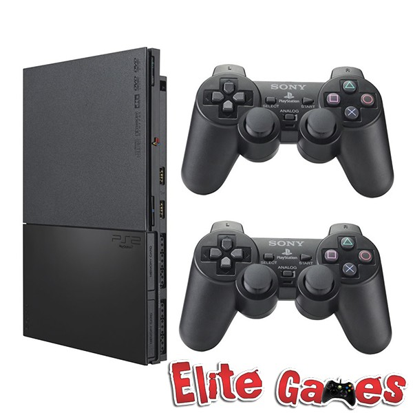 Foto 1 - Playstation 2 Slim +5 jogos + 2 Controles + 1 Memory Card