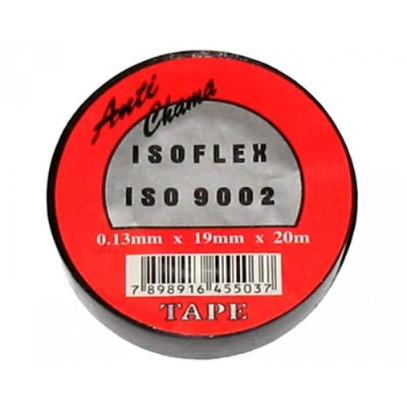 Foto 1 - FITA ISOLANTE DE 20MTS PRETA PACT.COM 10 - ISOFLEX