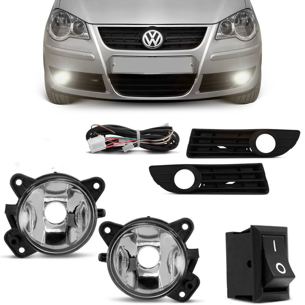 Foto 1 - KIT VW MILHA POLO 2007 A 2011 S/LAMPADA HB4 BT ALTERNATIVO COM MOLDURA
