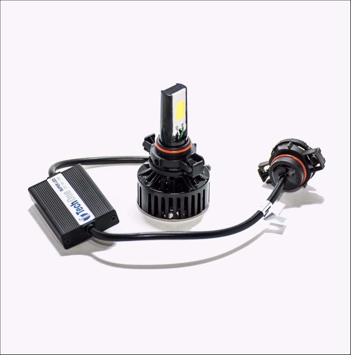 Foto2 - Lampadas Automotiva TechOne Super Led H4 Com Adaptador 12 - 24V