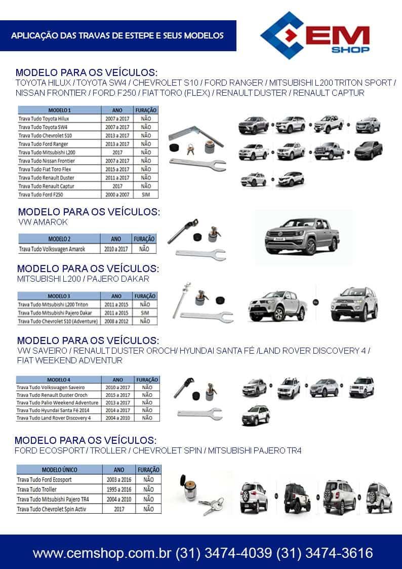 Foto2 - TRAVA TUDO ESTEPE L200 TRITON 2008 A 2016 / PAJERO DAKAR 2011 A 2015 S10 2008 A 2012