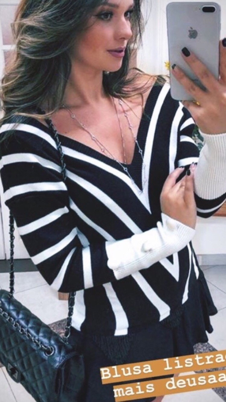 Foto 1 - Blusa trico listra