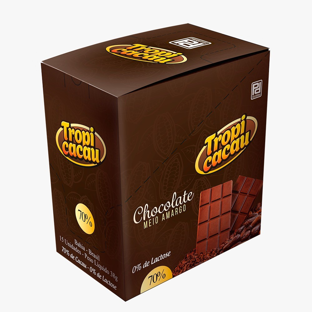 Foto 1 - Barra de Chocolate 70%