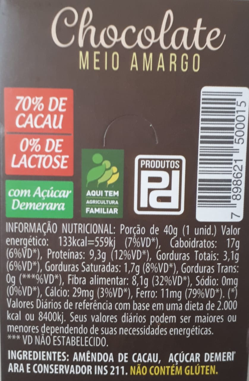 Foto2 - Barra de Chocolate 70%
