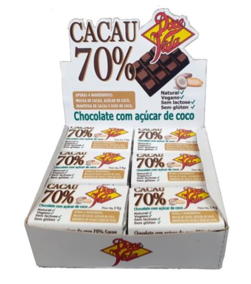 Foto 1 - Chocolate 70% com açúcar de coco