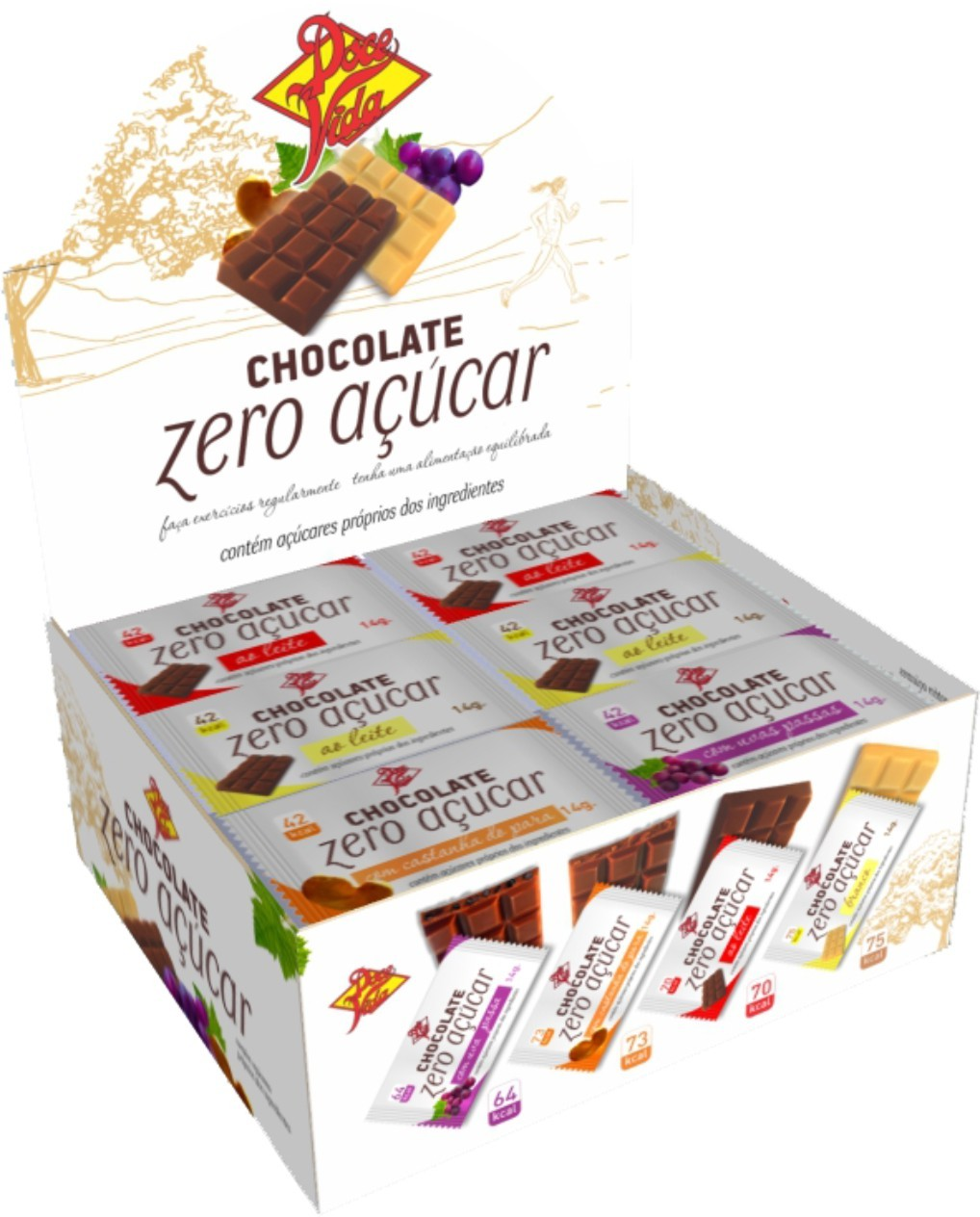 Foto 1 - Chocolate Caixa Mista 14g