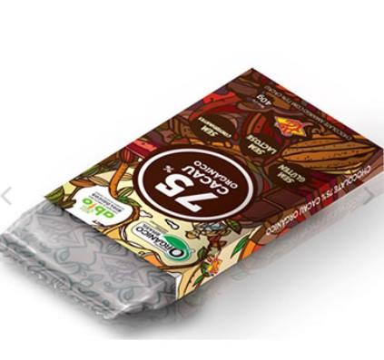 Foto 1 - Chocolate Orgânico 75%