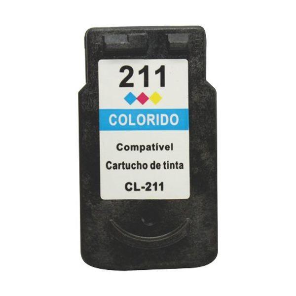 Foto 1 - CANON CL211XL |Cartucho Compatível| 12ml | Cor: Colorido