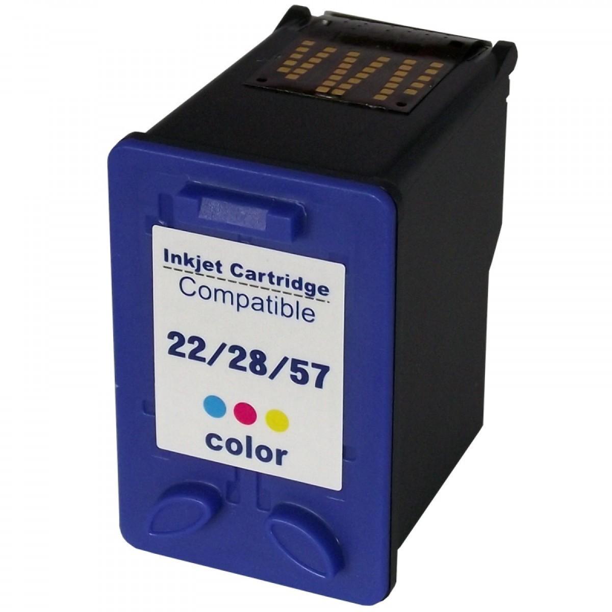 Foto 1 - HP 22/728/657 |Cartucho Compatível| 22ml | Cor: Color | Série 3000
