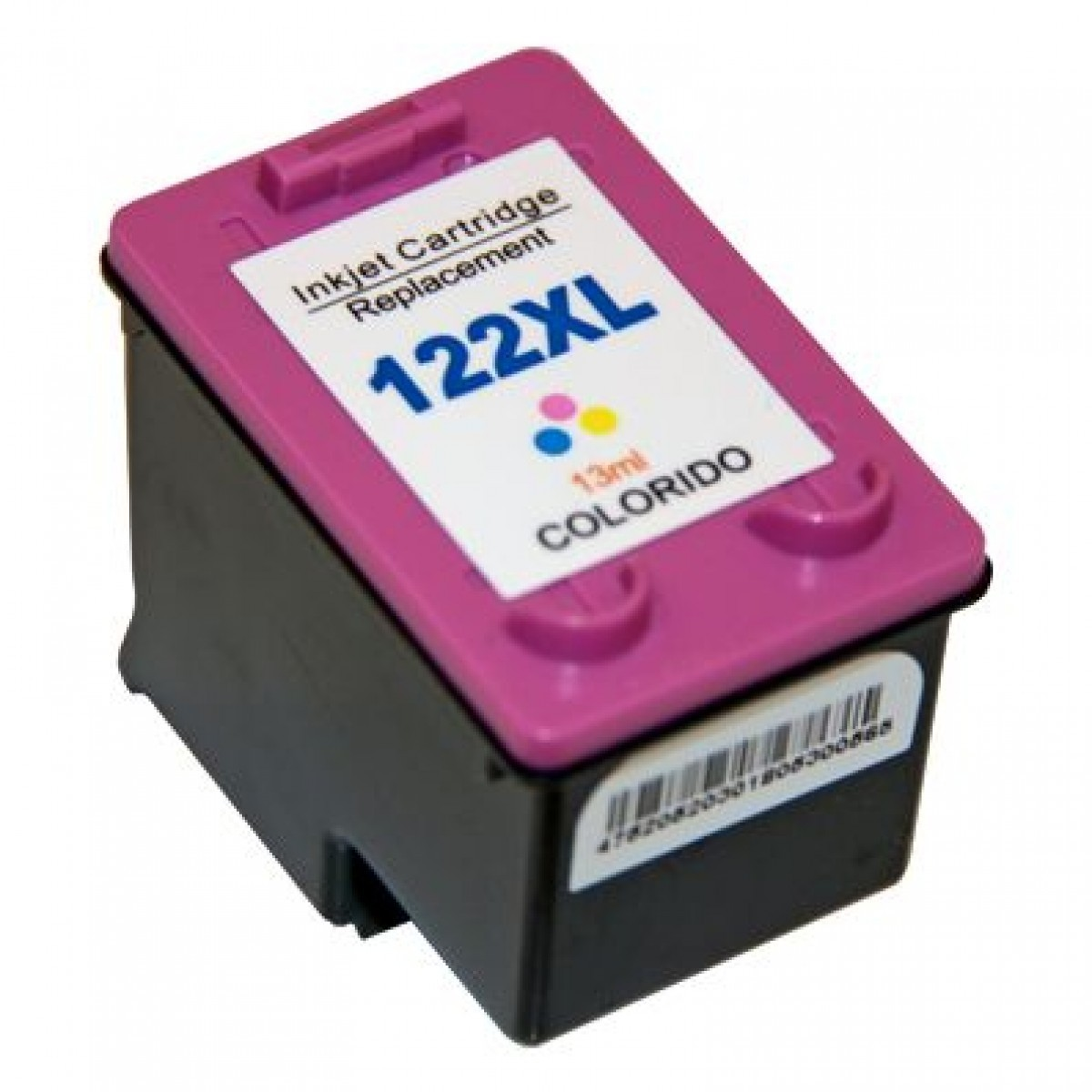 Foto 1 - HP 122XL |Cartucho Compatível| 18ml | Cor: Color | Série 3000