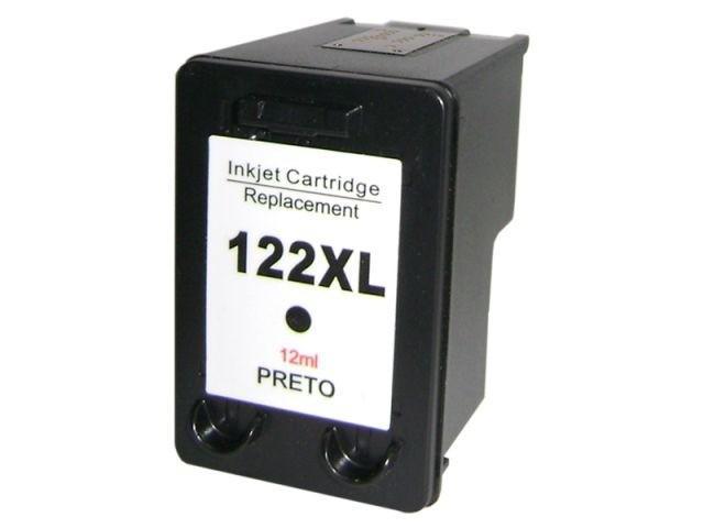 Foto 1 - HP 122XL |Cartucho Compatível| 20ml | Cor: PRETO | Série 3000