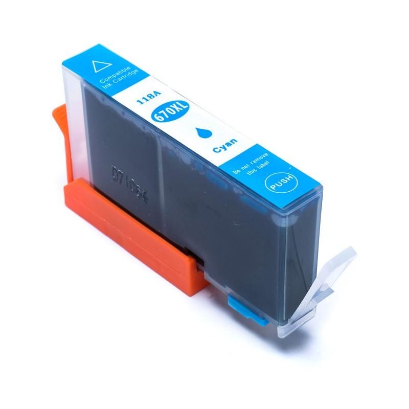 Foto 1 - HP 670XL |Cartucho Compatível| 16ml | Cor: Cyan