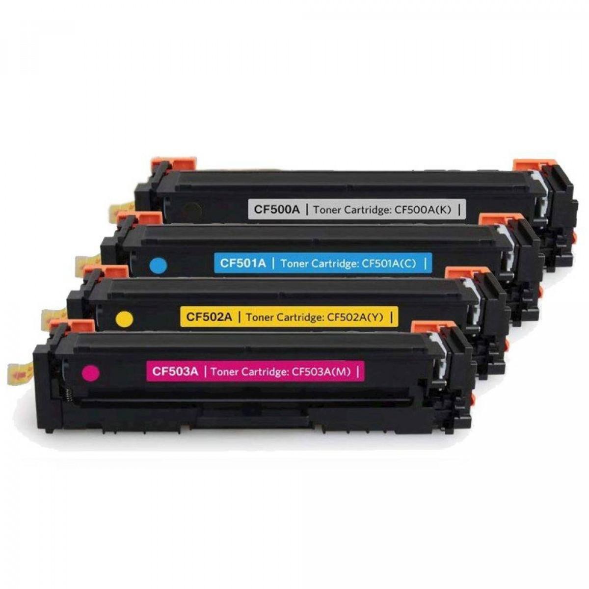 Foto 1 - TONER COMBO HP CF500A | CF501A | CF502A | CF503A |Cartucho Compatível| Cor: Todas as Cores