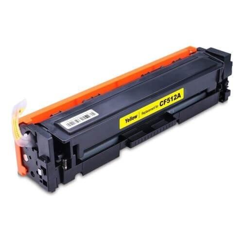 Foto 1 - Toner HP CF512A | CF204A | CF532A |Cartucho Compatível| 0,9K | Cor: Yellow