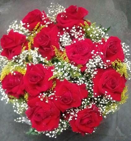 Foto 1 - Bouquet 12 rosas colombianas vermelhas