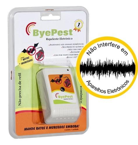 Foto8 - Kit Repelente Eletrônico Espanta Ratos e Morcegos Byepest 2Un