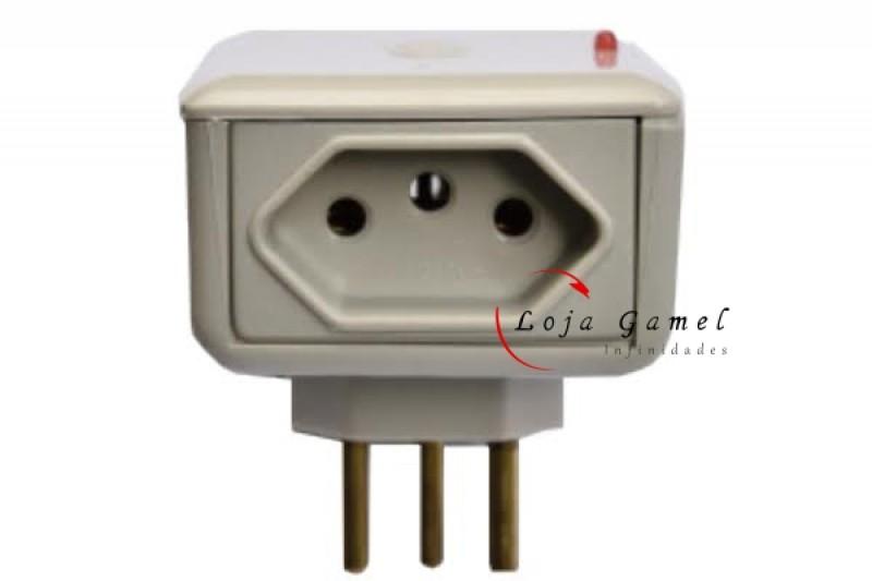 Foto5 - Protetor de Raio Eletro 2 Tomadas 20A Máquina de Lavar Microondas Forno Elétrico