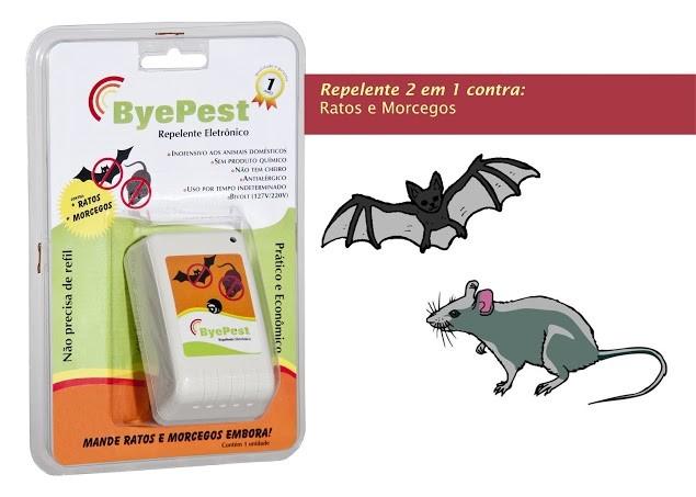 Foto9 - Kit Repelente Eletrônico Espanta Ratos e Morcegos Byepest 5Un