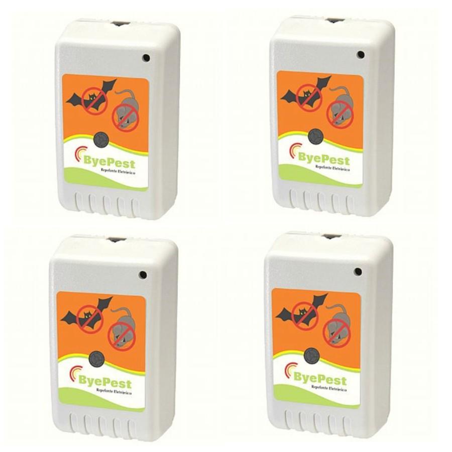 Foto2 - Kit Repelente Eletrônico Espanta Ratos e Morcegos ByePest 4Un