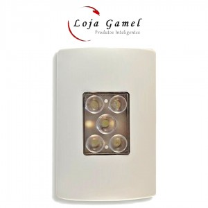 Foto1 - Balizador LED de Emergência de Embutir
