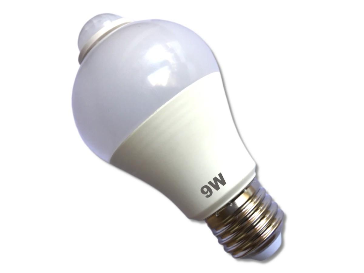 Foto2 - Kit 3Un Lâmpada LED Inteligente com Sensor de Movimento 9W