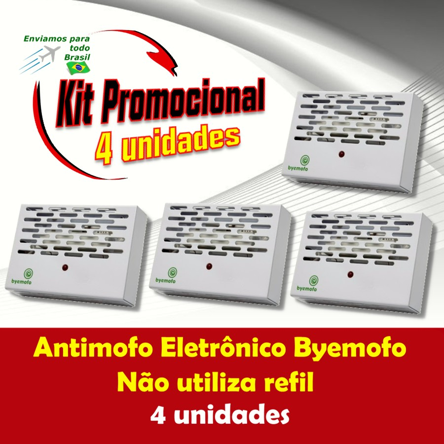 Foto 1 - Kit Byemofo Antimofo Eletrônico 4 Unidades