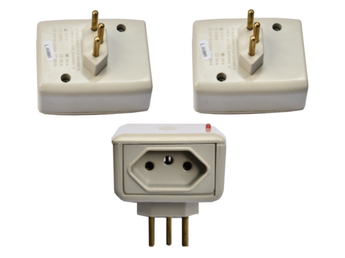 Foto 1 - Kit Proteraio Protetor de Raio 1un Eletro 10A 127V 2un Eletro 20A Bivolt