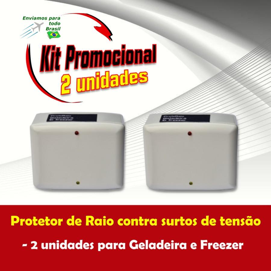 Foto 1 - Kit Protetor de Raio para Geladeira e Freezer 2 Unidades
