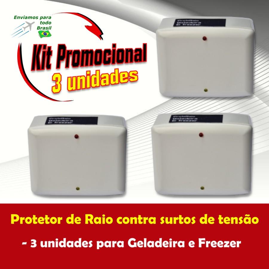 Foto 1 - Kit Protetor de Raio para Geladeira e Freezer 3 Unidades