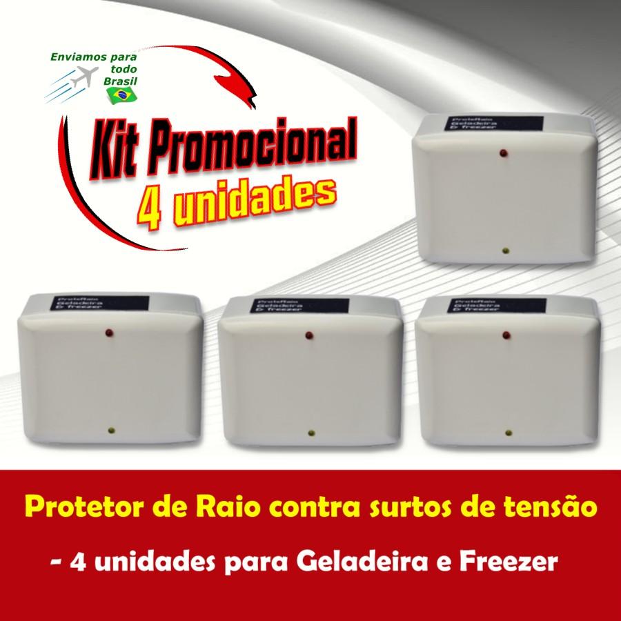 Foto 1 - Kit Protetor de Raio para Geladeira e Freezer 4 Unidades