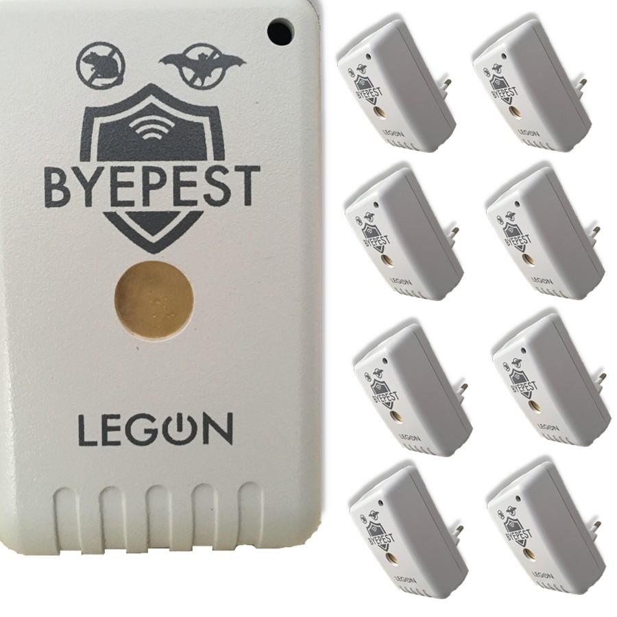 Foto 1 - Kit Repelente Eletrônico Espanta Ratos e Morcegos Byepest 8Un