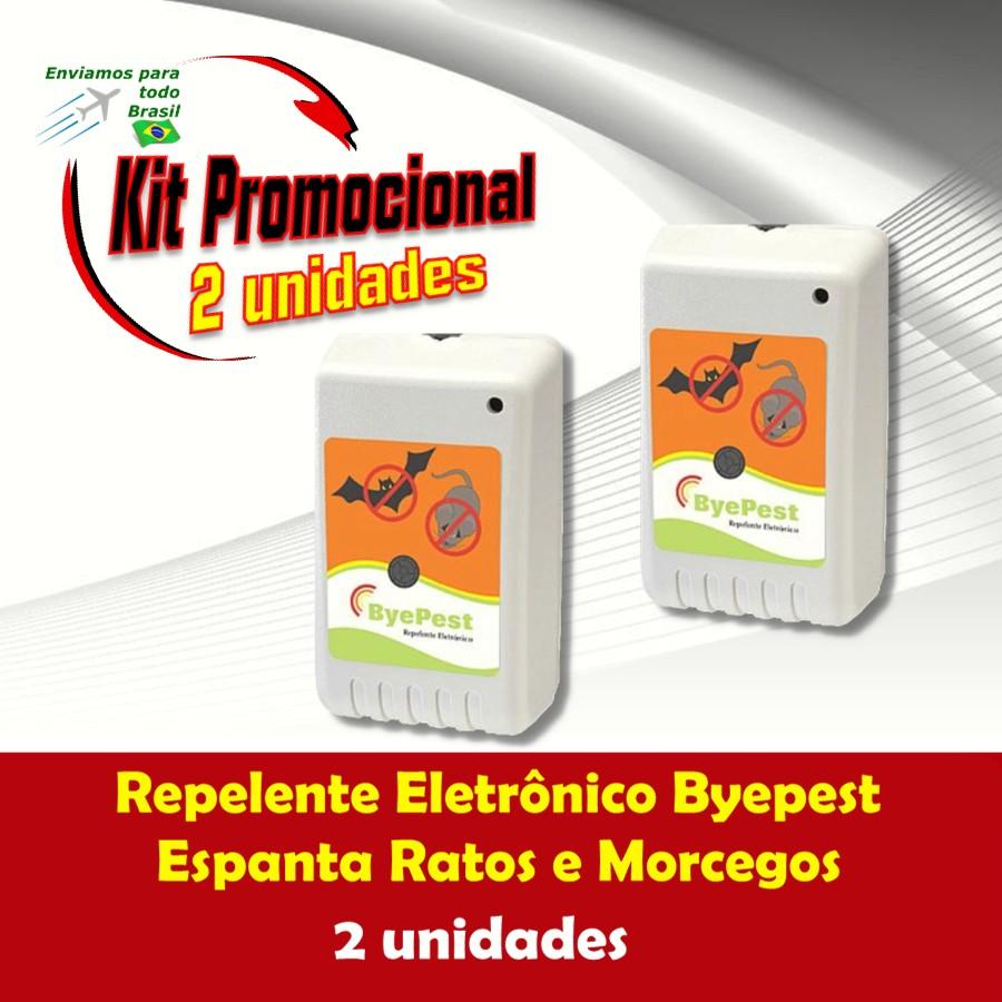 Foto 1 - Kit Repelente Eletrônico Espanta Ratos e Morcegos Byepest 2Un