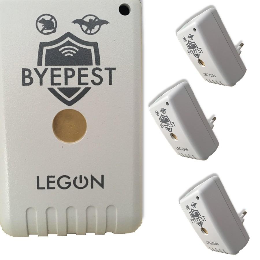 Foto 1 - Kit Repelente Eletrônico Espanta Ratos e Morcegos Byepest 3Un
