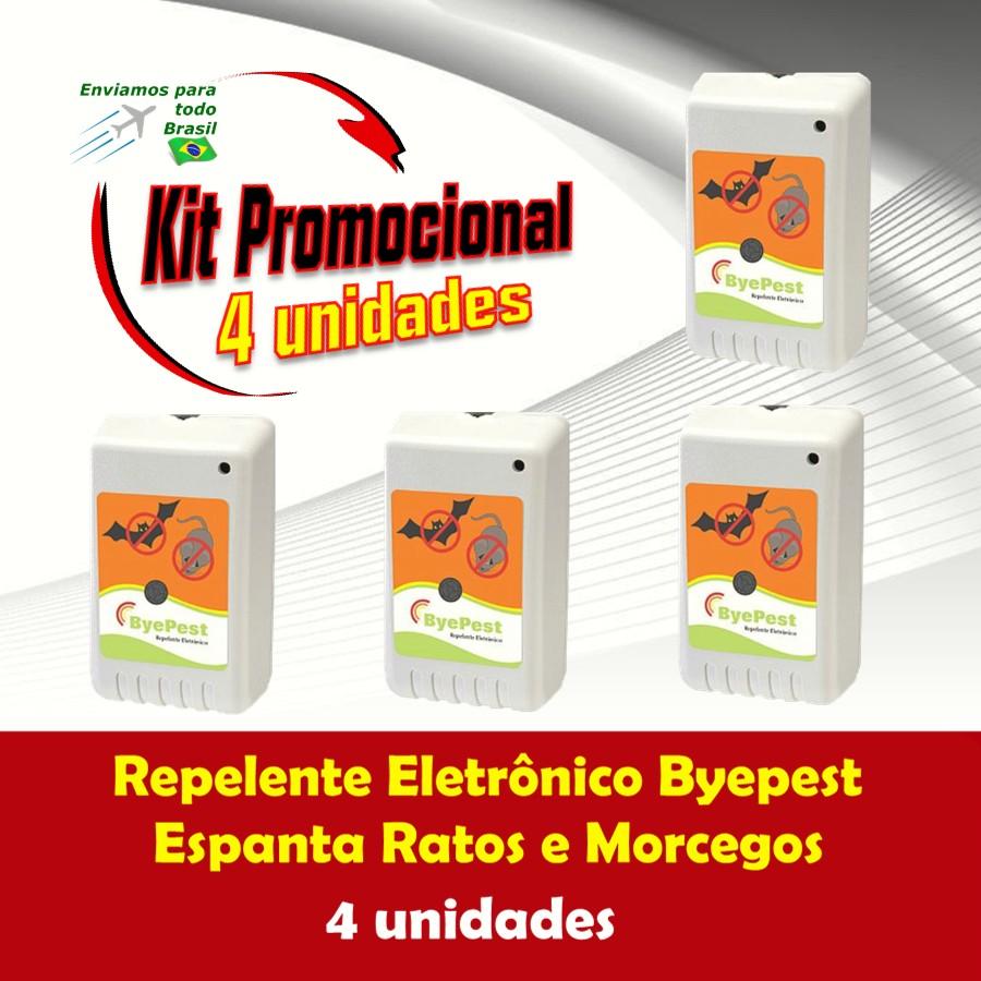 Foto 1 - Kit Repelente Eletrônico Espanta Ratos e Morcegos ByePest 4Un