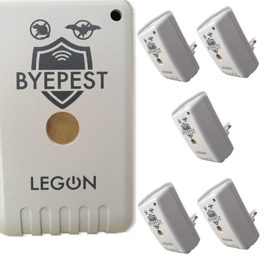 Foto 1 - Kit Repelente Eletrônico Espanta Ratos e Morcegos Byepest 5Un