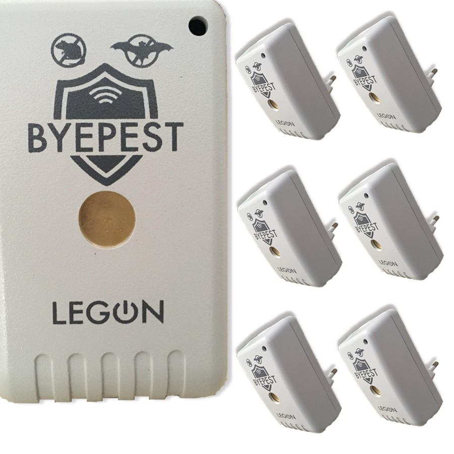 Foto 1 - Kit Repelente Eletrônico Espanta Ratos e Morcegos Byepest 6Un