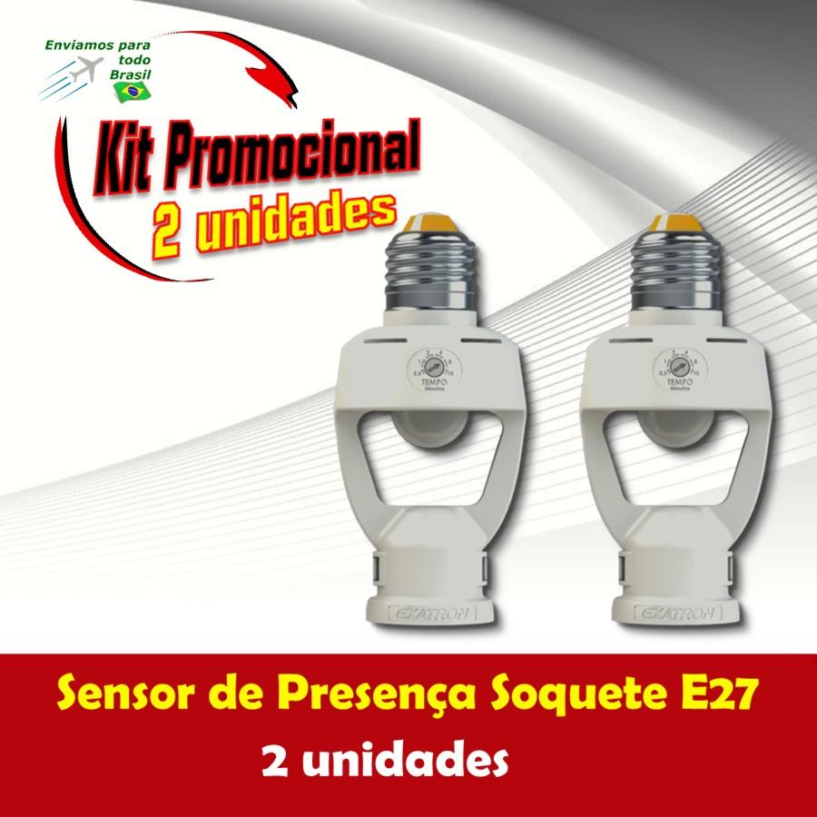 Foto 1 - Kit Sensor de Presença Soquete E27 2Un