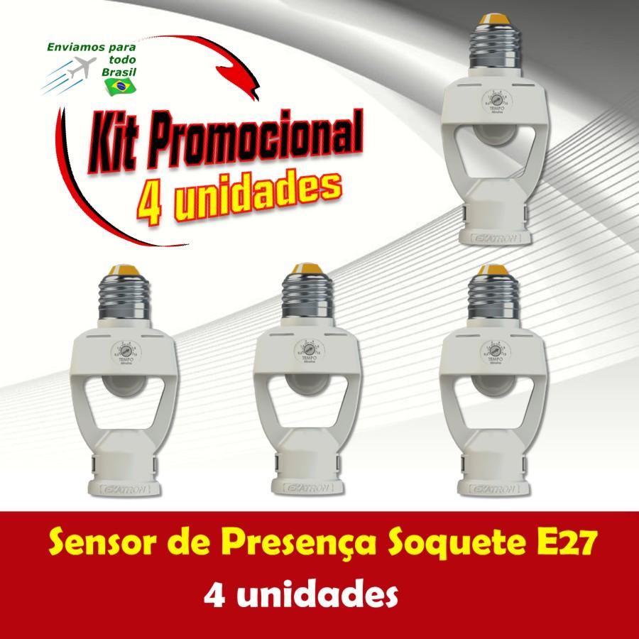 Foto 1 - Kit Sensor de Presença Soquete E27 4Un