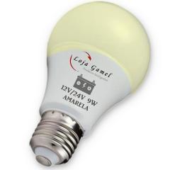 Foto4 - Lâmpada Led Bateria 12V / 24V - 9W 800 Lumens Amarela