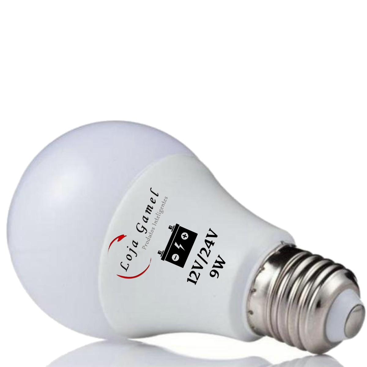 Foto2 - Lâmpada Led Bateria 12V / 24V - 9W 800 Lumens Kit 11un