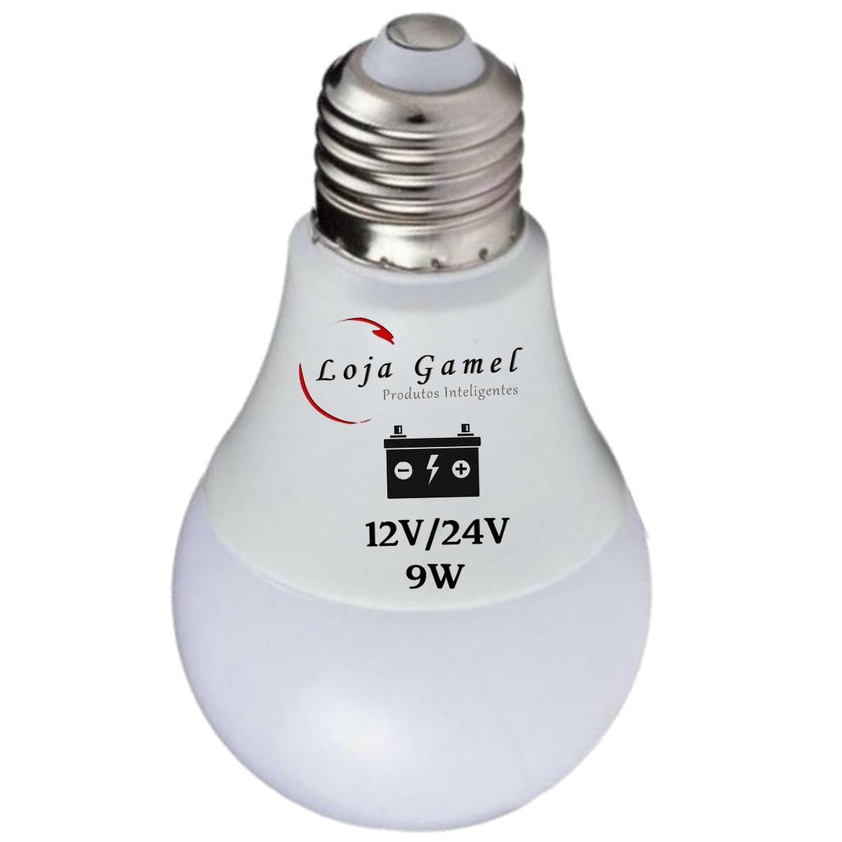 Foto5 - Lâmpada Led Bateria 12V / 24V - 9W 800 Lumens Kit 4un